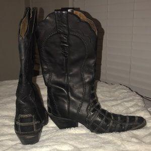 Shoes - Ostrich skin cowboy boots